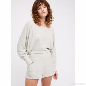 Free People Tumbledown Oversize Sweater Romper